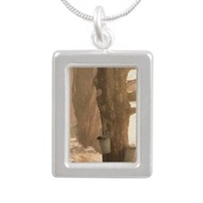 SAP BUCKETSj Silver Portrait Necklace