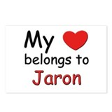 My heart belongs to jaron Postcards (Package of 8)