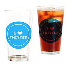 btn-i-love-twitter Drinking Glass