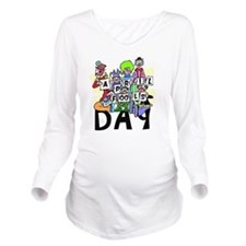 Clown front Long Sleeve Maternity T-Shirt