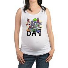 Clown front Maternity Tank Top