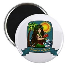 "Hula Girl 2.25"" Magnet (100 pack)"
