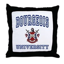 BOURGEOIS University Throw Pillow