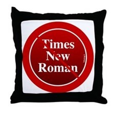 2-btn-times Throw Pillow