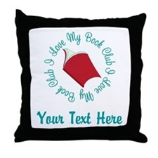 Personalized I Love My Book Club Throw Pillow