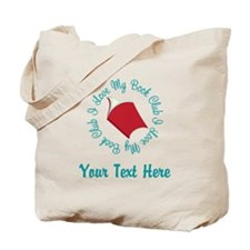 Personalized I Love My Book Club Tote Bag
