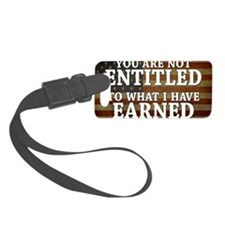11x17_DarkFlagEntitled Luggage Tag