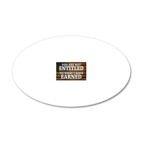 11x17_DarkFlagEntitled 20x12 Oval Wall Decal