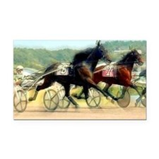 trotting power Rectangle Car Magnet