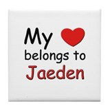 My heart belongs to jaeden Tile Coaster