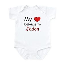 My heart belongs to jadon Infant Bodysuit