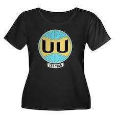 UUW_logo Women's Plus Size Dark Scoop Neck T-Shirt