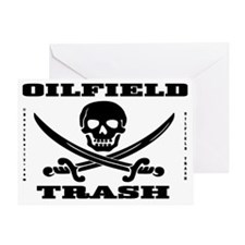 Skull Trash use dd A4 using Bcgd Clr Greeting Card