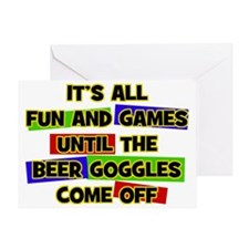 Fun & Games - Beer Goggles Greeting Card