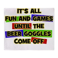 Fun & Games - Beer Goggles Throw Blanket