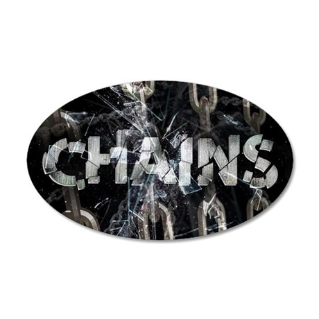 april_chains 35x21 Oval Wall Decal