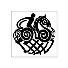 "sleipnir2_black Square Sticker 3"" x 3"""