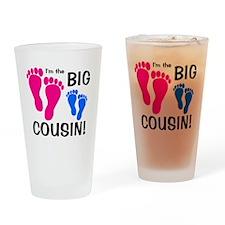 2-imthebigcousin_pinkfeet_bluefeet Drinking Glass