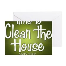buttons-0405_cleanhouse Greeting Card