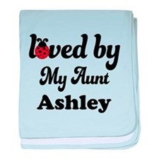 Loved By My Aunt Personalized baby blanket