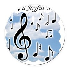 Make a joyful noise Round Car Magnet
