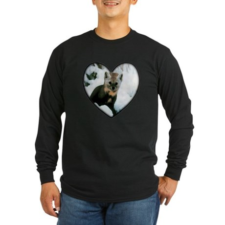 Little Fox Long Sleeve Dark T-Shirt