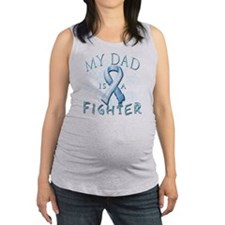 My Dad is a Fighter Light Blue Maternity Tank Top