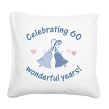 BlueBells 60 Square Canvas Pillow