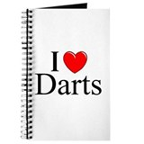 """I Love (Heart) Darts"" Journal"