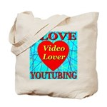 I Love YouTubing Video Lover Tote Bag