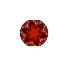 Red Mandala Mini Button