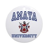 AMAYA University Ornament (Round)