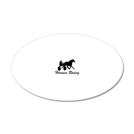 Harness Racing Logo 20x12 Oval Wall Decal