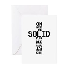 Solid Rock Black Greeting Cards