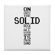 Solid Rock Black Tile Coaster