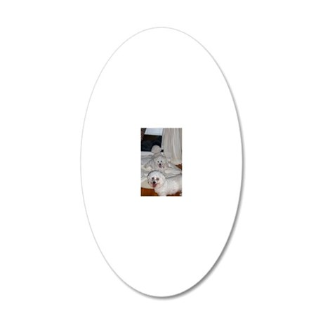 THREE MUSKETEERS ORNAMENT 20x12 Oval Wall Decal