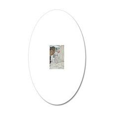 SOPHIE AND SASHA ORNAMENT II 20x12 Oval Wall Decal
