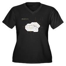 2-Berlinbolu Women's Plus Size Dark V-Neck T-Shirt