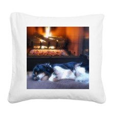 Cheyenne_fire_mouse Square Canvas Pillow