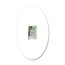 SASHA-AND-SOPHIE-ORNAMENT II 20x12 Oval Wall Decal