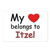 My heart belongs to itzel Postcards (Package of 8)