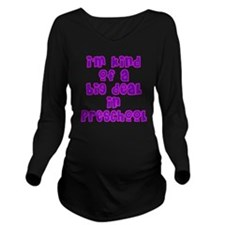 preschool_girls Long Sleeve Maternity T-Shirt