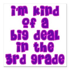 "3rd grade_girls Square Car Magnet 3"" x 3"""