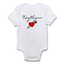 Name with Heart Infant Bodysuit