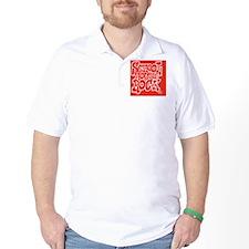 2-SHR_REVERSE_red_oval_sticker Golf Shirt