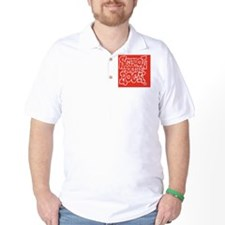 2-SHR_REVERSE_red_oval_sticker T-Shirt