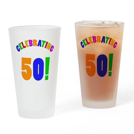 Rainbow 50 Drinking Glass