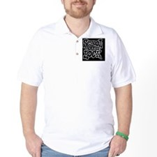 2-SHR_REVERSE_black_rect_sticker Golf Shirt