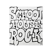 3-schoolhouserock_BW Throw Blanket