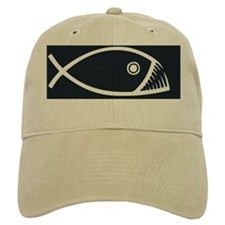 fish-fangs-OV Baseball Cap